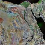 Satellite photograph of Egypt