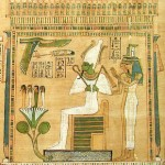 Osiris with Nephthys and Isis. Photograph by on Bodsworth