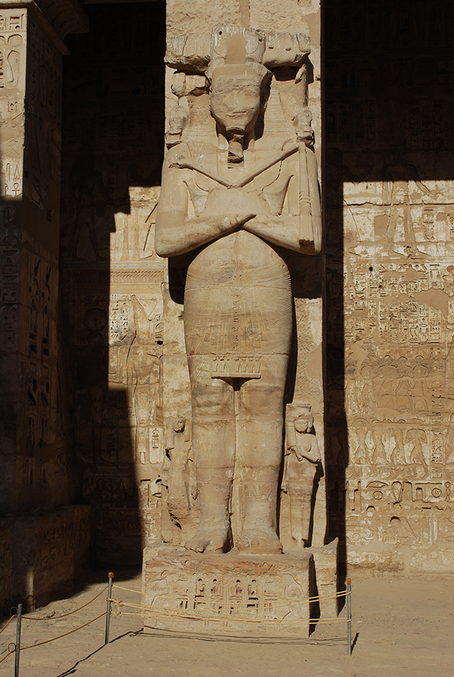 The First Court, north side at Medinet Habu, showing Living King pilasters