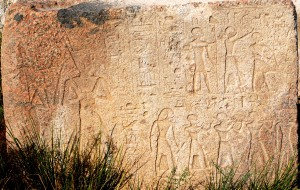 Heb Sed ceremony depicted on a block of Osorkon II at Bubastis