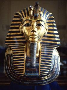 The death mask of Tutankhamun
