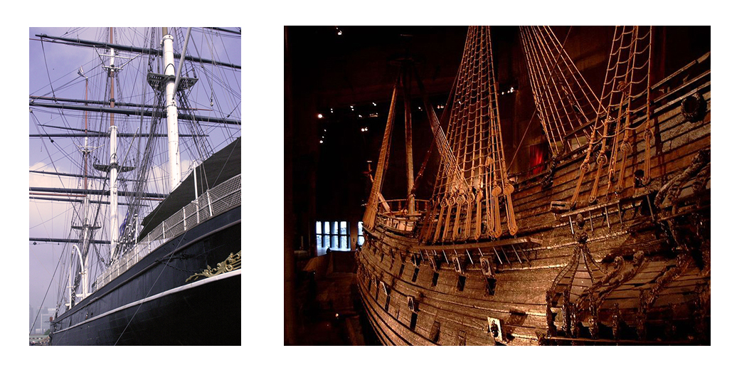 The Cutty Sark and the Vasa