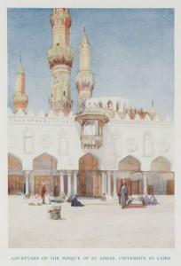 Courtyard of the Mosque of Al Azhar, University of Cairo (1907)