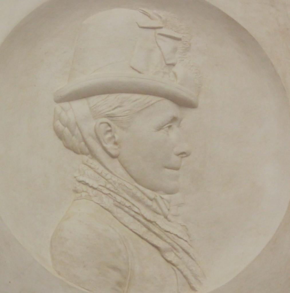Figure 3. Profile of Marianne Brocklehurst, over the door of the West Park Museum