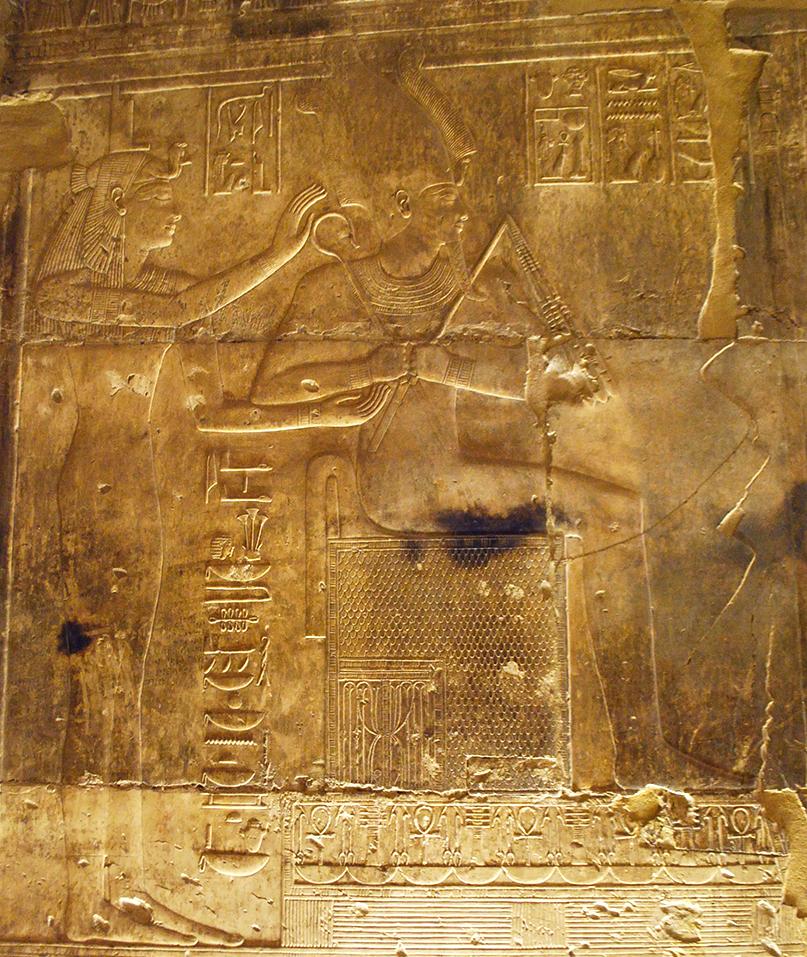 Osiris 1  Abydos Seti Temple Opposing