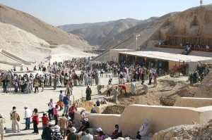Tourists in the Valley of the Kings