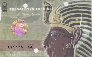 Three-tombs ticket, Valley of the Kings
