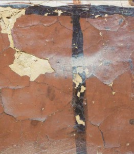 Damage to the original paintings in KV62