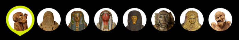 The eight lives represented by the exhibition