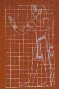 By means of the grid system, the uniformity of bodily proportions remained consistent in art from the 5th Dynasty on.