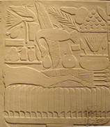 """Tombs were equipped with real food and drink, but also food and drink made of clay, wood or stone made """"real"""" by magic"""