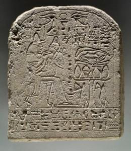 Merysekhmet on his mother's knee. British Museum EA804, mid 18th Dynasty