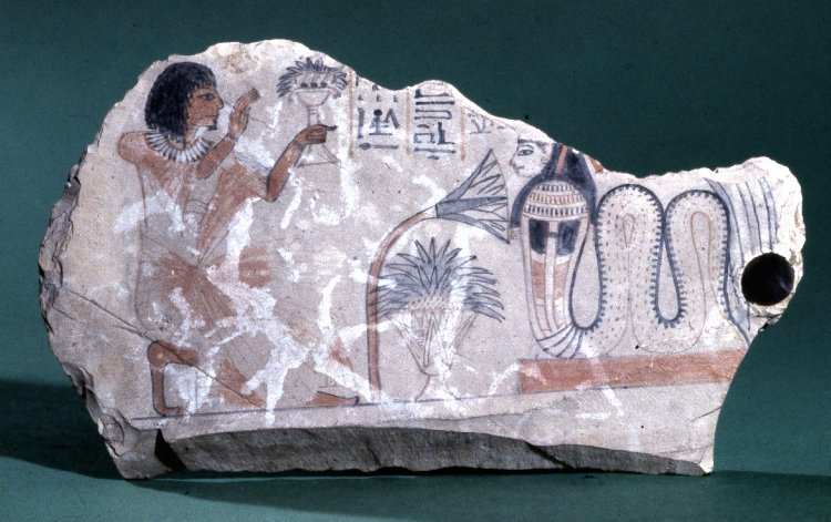 British Museum EA8508.  Pennub praises Meretseger.. Late 19th or early 20th Dynasty