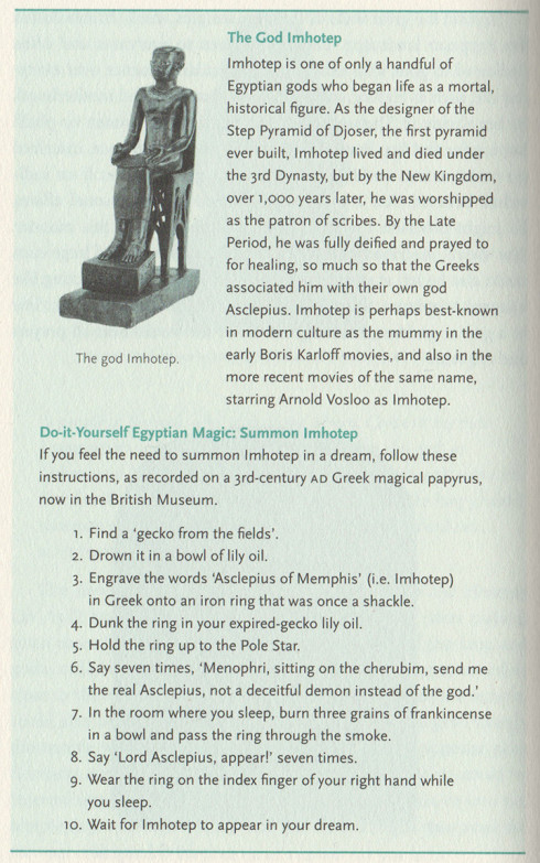 A page from The Egyptian Myths